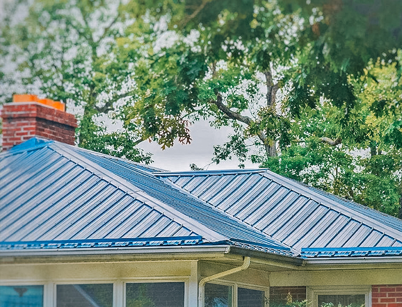 Colored-metal-roofing