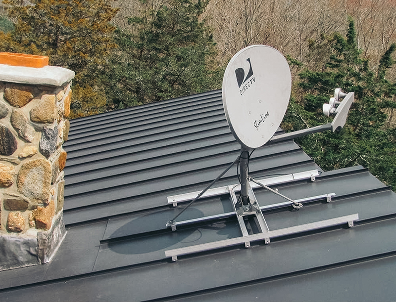Metal-roofing-dish-installation